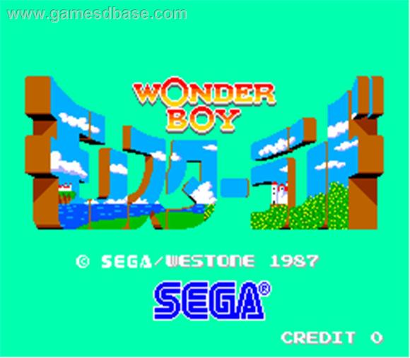 Wonder Boy in Monster Land title