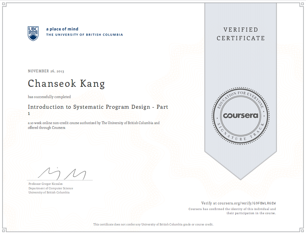Mooc Verified Certificate Introduction To Systematic Program