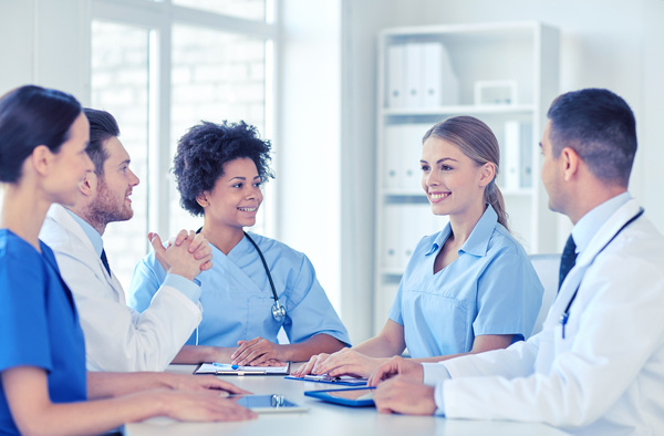 Free Stock Photo JPG file Group of happy doctors at hospital Stock Photo 06
