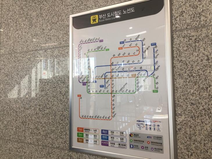 부산 도시철도 노선도