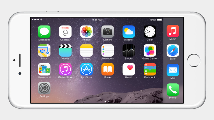 아이폰6 화면 전환기능