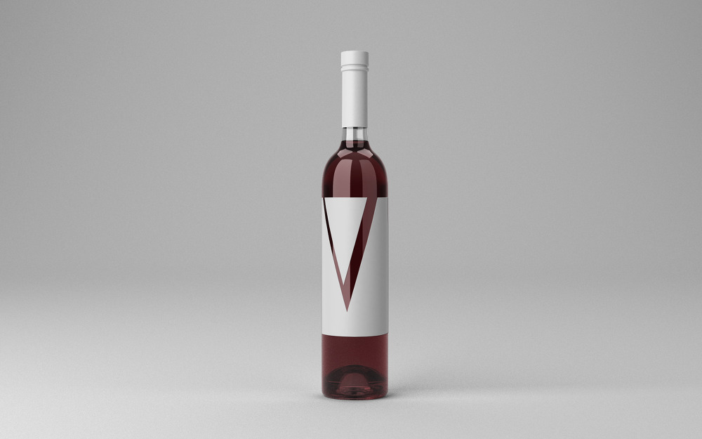 무료 와인병 목업 PSD - Free Wine Bottle Mockup PSD