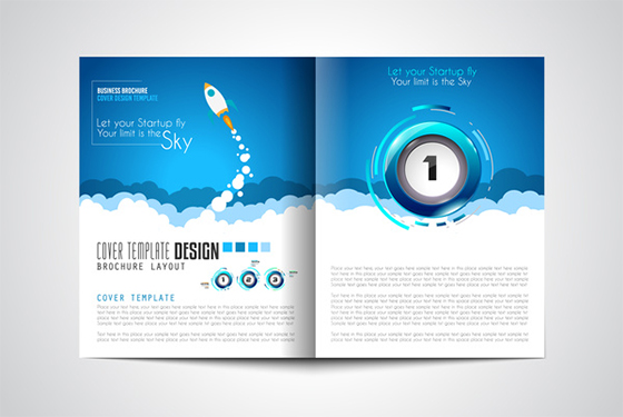 Business flyer brochure cover template vector 02