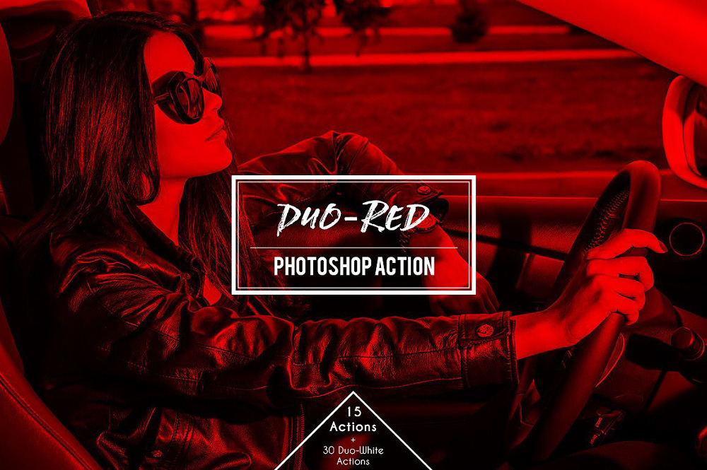 무료 레드 듀오톤 포토샵 액션 - Free Duo Red : Red Duotone Photoshop Action