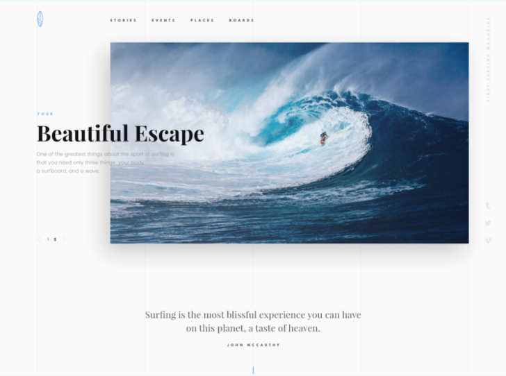 Surfing PSD Web Template