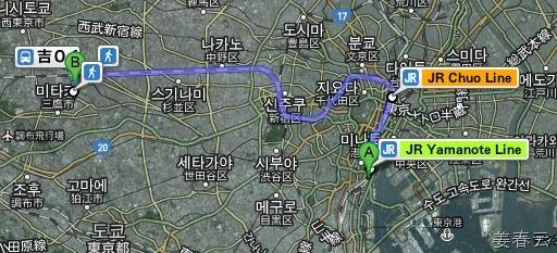 동경 히노네(日の出)역 부근 치선 호텔에서 지브리 미술관 가는 방법 – 하마쯔스초 역에서 JR 야마노테 라인 타고 가는 것이 좋아