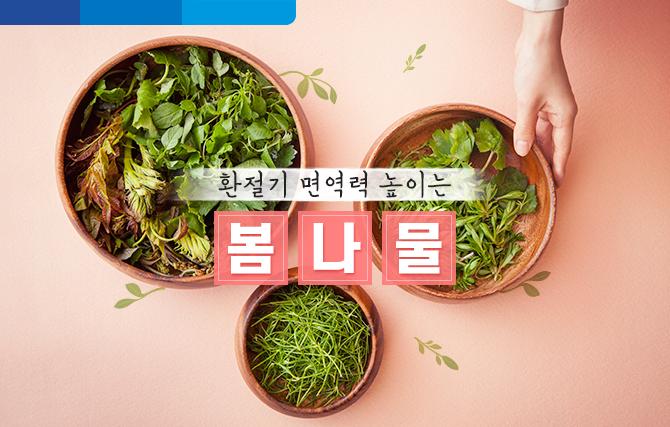 환절기에 면역력 높이는 봄 제철 나물'