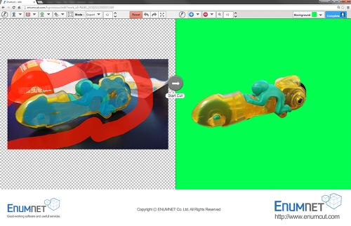 Enumcut.com[Tutorial-64]:Manual(Expert)Mode-kinderjoy toy photo(complex background)-backgrund removal