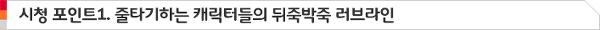 시청 포인트1. 줄타기하는 캐릭터들의 뒤죽박죽 러브라인