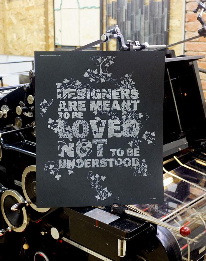 Letterpress Creative Posters