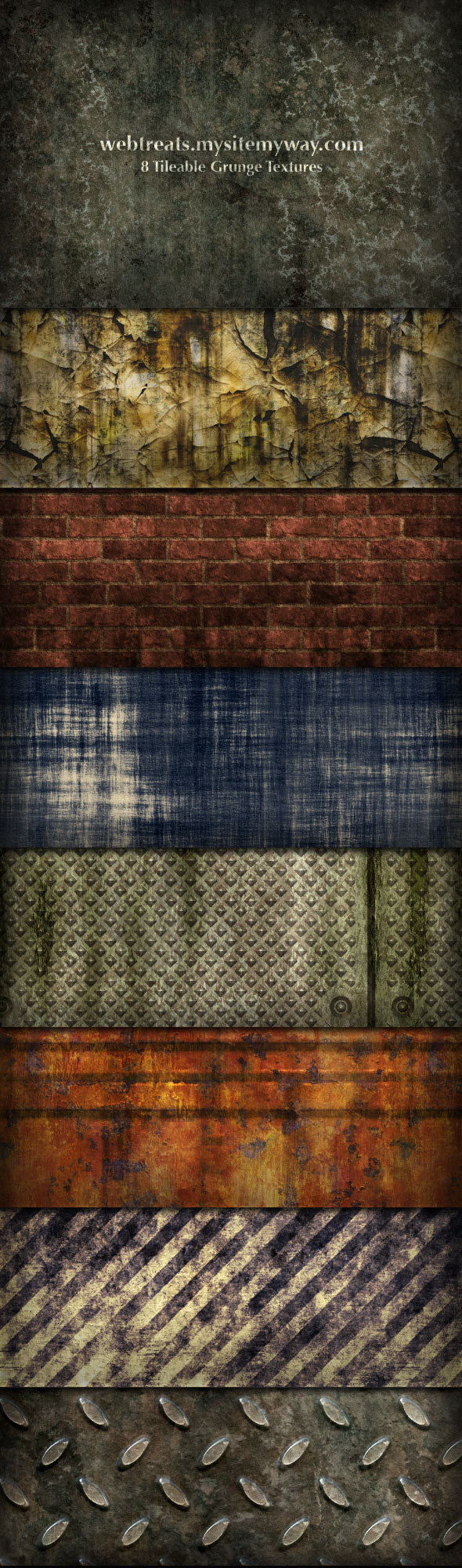 8 가지 타일러블 그런지(tileable grunge) 포토샵 PSD 텍스쳐 - 8 Free Tileable Grunge Photoshop Textures
