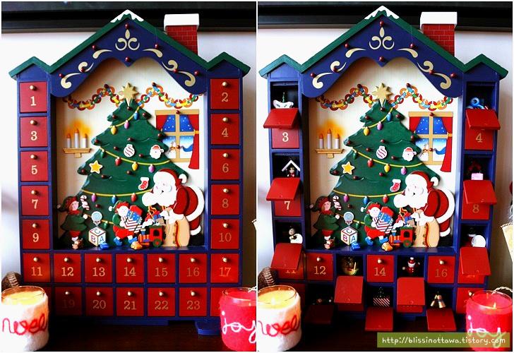 강림절 달력 Advent Calendar 크리스마스 데코
