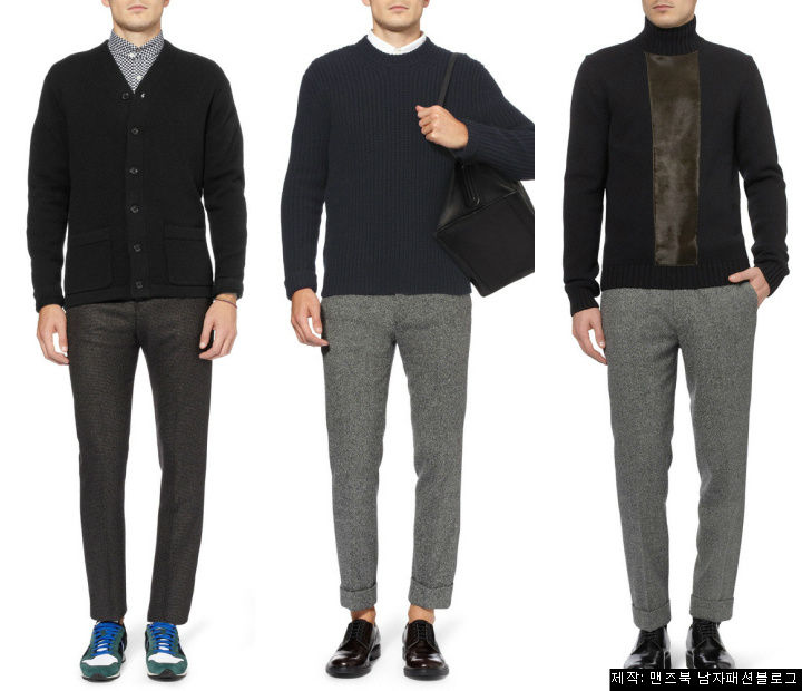 fd10b14531c 컬러로 보는,남자 니트에 어울리는 바지 스타일링(겨울편) :: Men's Look book