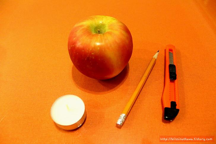 홈데코 사과 양초 만들기