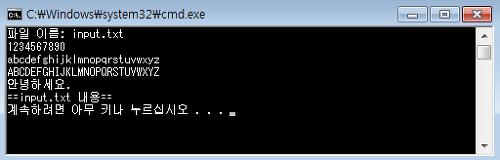 [C언어 소스] 파일 이름을 입력받아 파일 내용을 콘솔 화면에 출력