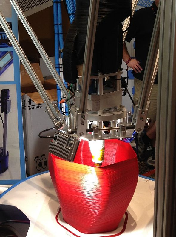 Large delta-style 3D printer