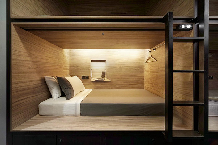 *피오디 부띠끄 캡슐 호텔 [ Formwerkz Architects ] POD Hotel Singapore