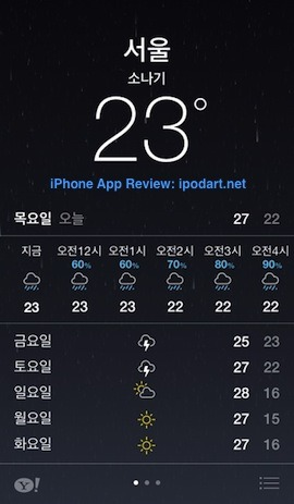 iOS7 날씨