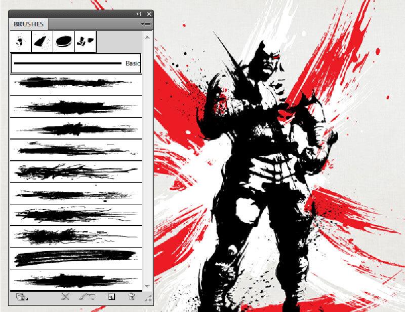 Illustrator 소장하고 싶은 무료 브러쉬 30가지 모음