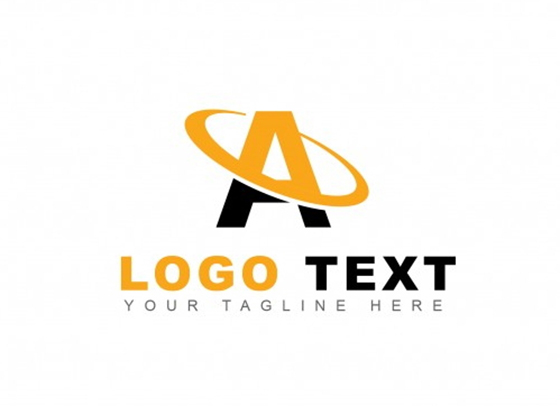 Yellow letter a logo
