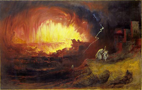 사진: 구약성경에서 소돔과 고모라는 죄악의 도시가 되어 멸망하였다. 하지만 언제나 의로운 자들은 구원을 받게 된다. [인류멸망을 예언하는 제3차 세계대전]