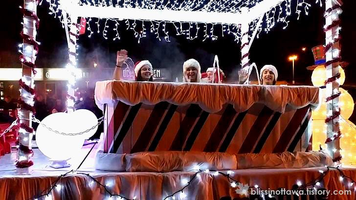 산타 퍼레이드 입니다.