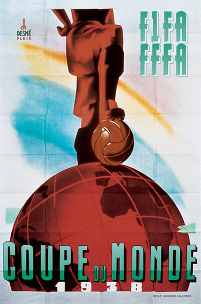 1938 France World Cup poster