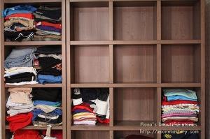 옷장정리, 옷, 티정리, 정리