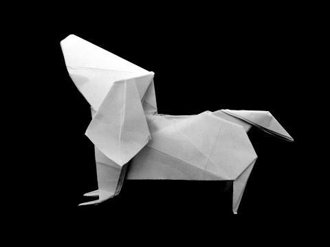 닥스훈트 개 강아지 (Fuchimoto Muneji) 동물 종이접기 동영상