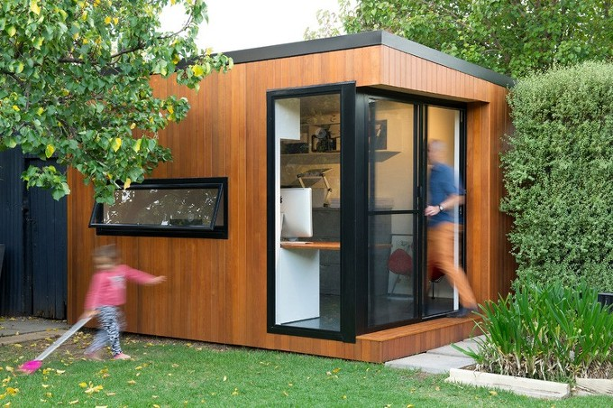 *뒤뜰에 작은 사무실 Inoutside Creates A Small Backyard Office