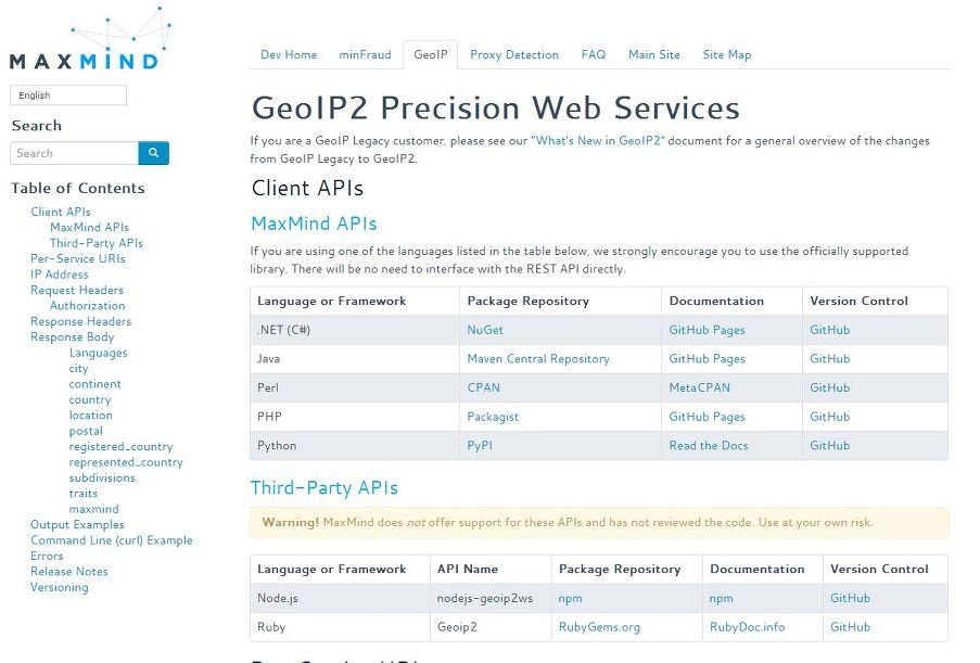 MAXMIND GeoIP를 이용한 클라이언트 접속 국가 정보 확인