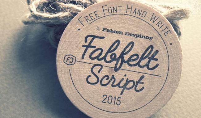 캘리그라피 폰트 - Fabfelt Script Free Font (Free)