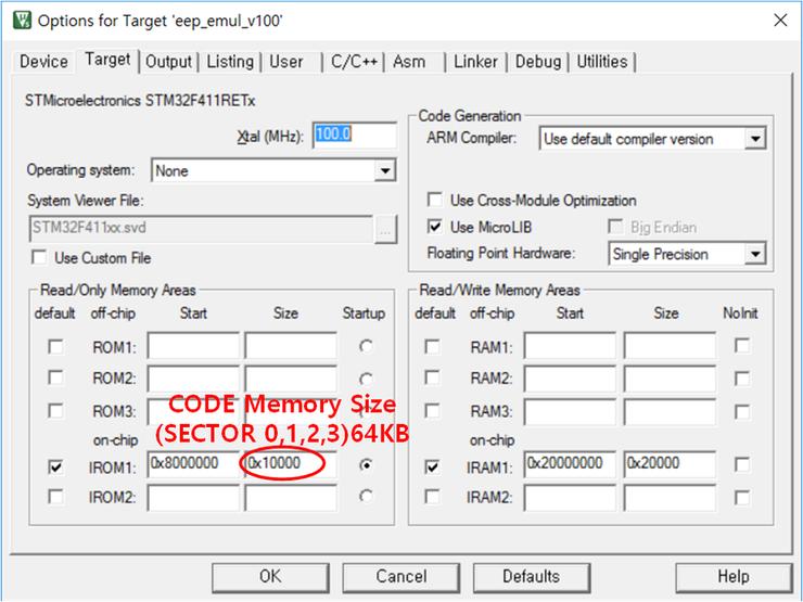 STM32F4xx] EEPROM Emulate Test (내부 Flash Mem 사용