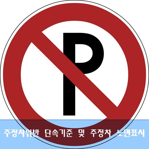 주정차위반 단속기준 및 주정차 노면표시