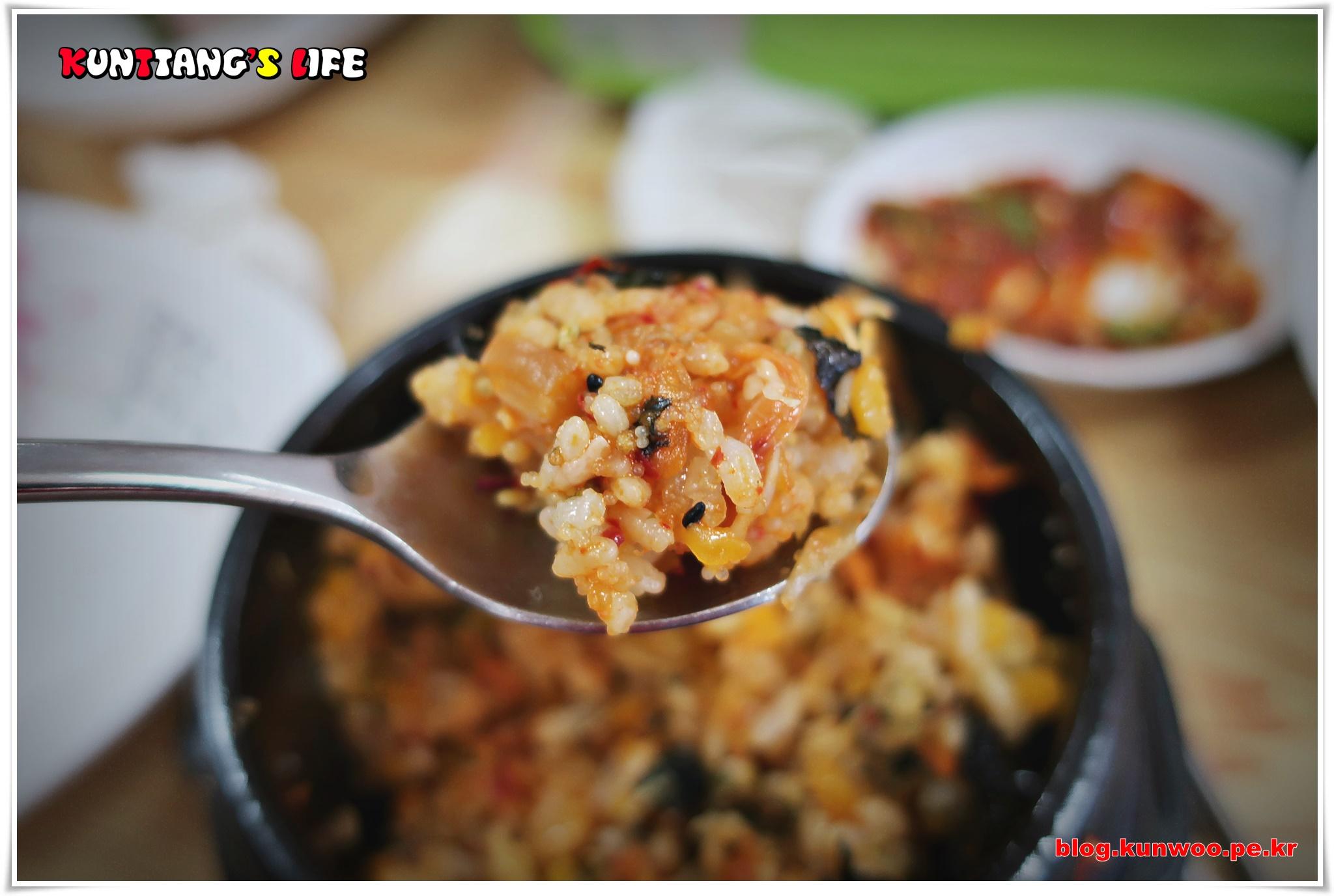 [그림10] 총각수산 점심특선 알밥 한숟가락