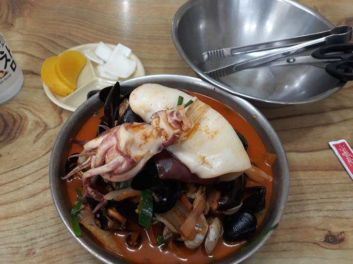 [구미맛집]도개오복반점 - 오징어가 통째로, 푸짐한 해물짬뽕 맛집
