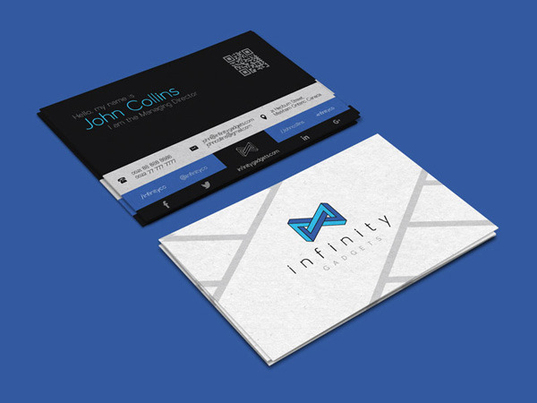 Free Modern Business Card Design & Logo Template