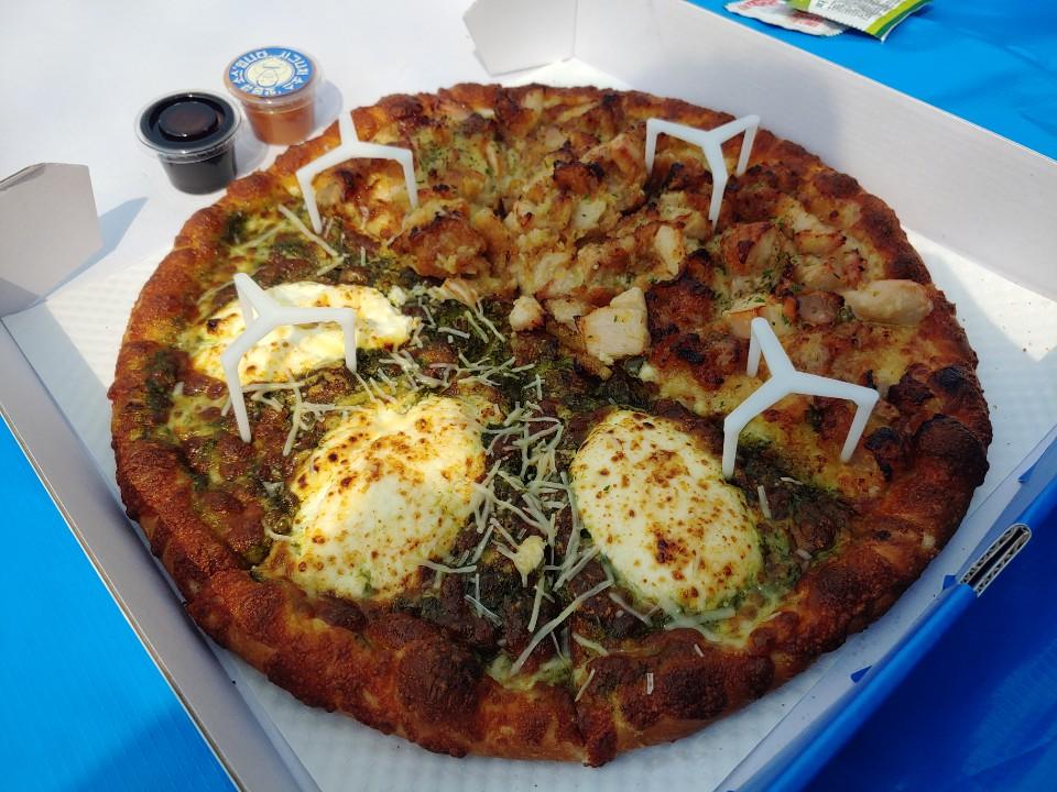 바질 마스카포네 피자