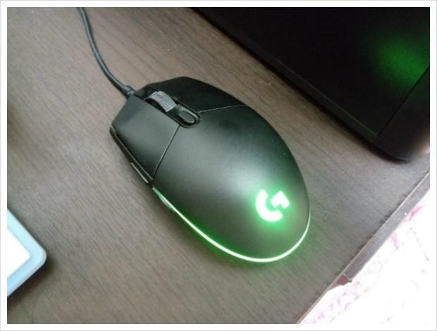 마우스 불빛