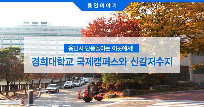 경희대학교 국제캠퍼스와 신갈저수지