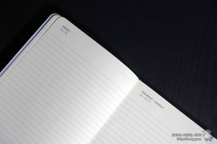 스타벅스, 다이어리, 플래너, 2018, 미스틱클라우드, 데일리, 구성, 내지