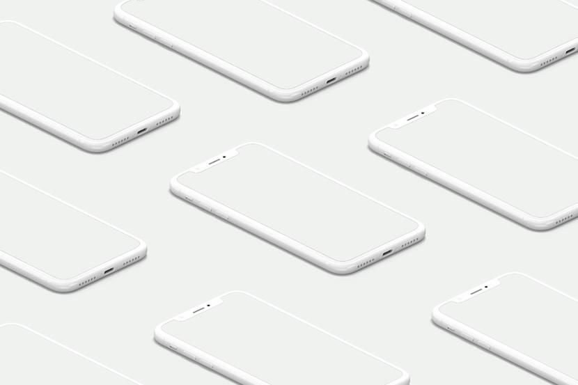UI Psd iPhone X 화이트 목업 psd