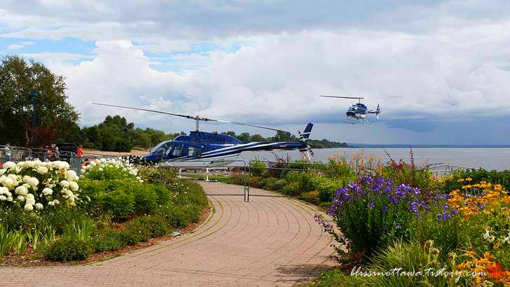 노스 베이 헬기 투어입니다