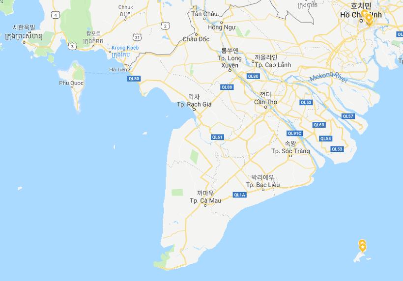 베트남 남부와 캄보디아 일대