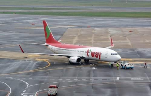 티웨이항공 비행기