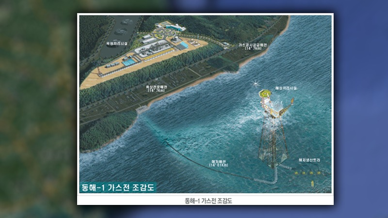 사진: 한국석유공사의 동해-1 가스전 조감도
