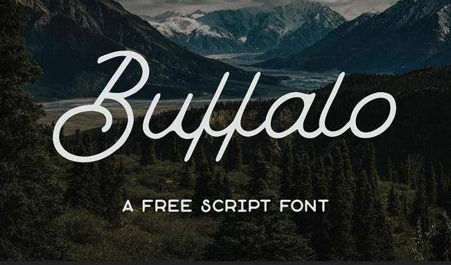 캘리그라피 폰트 - Buffalo Font (free)