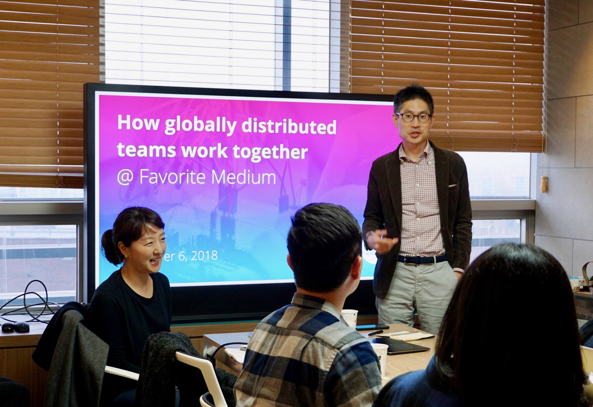 How Favorite Medium's globally distributed team works together