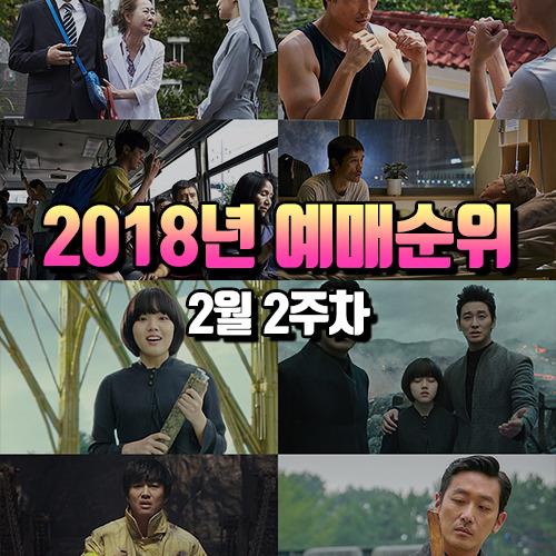최신 영화 예매 순위 TOP5 : 2018년 2월 2주차 현재 상영 영화순위 순위 평가 총정리