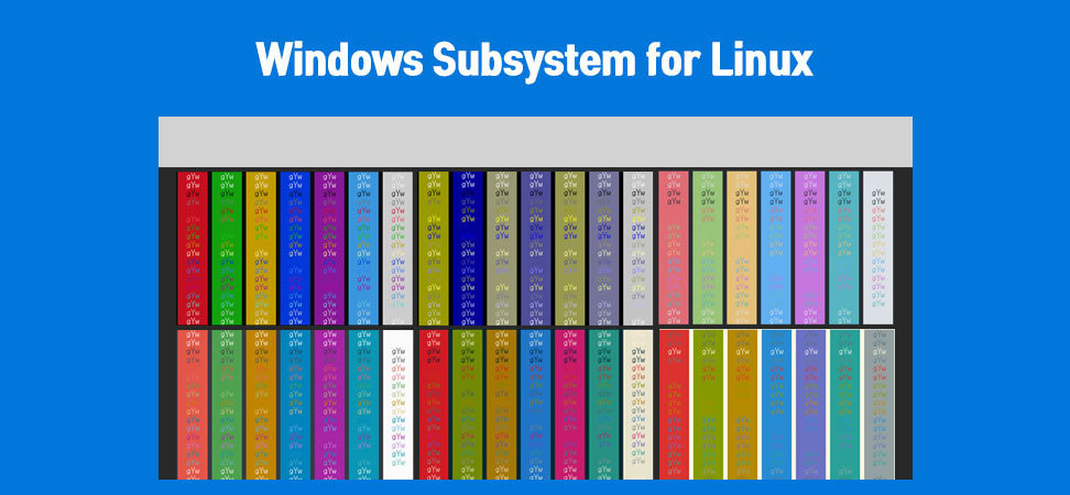 Windows Subsystem Linux colorset